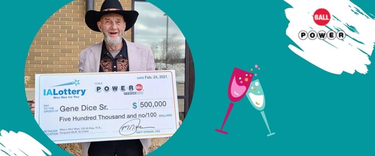 MANN AUS WOODBURY COUNTY GEWINNT 500.000 DOLLAR MIT POWERBALL