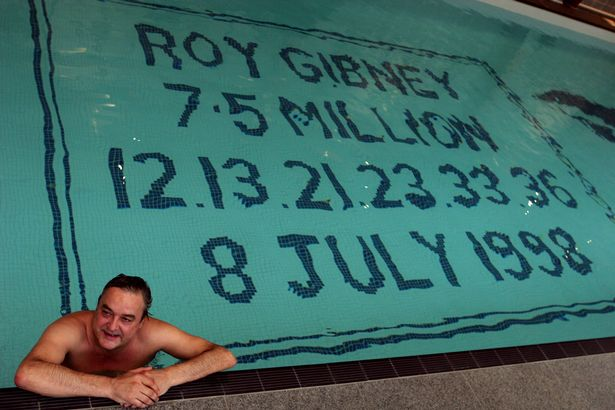 Lottery millionaire Roy Gibney