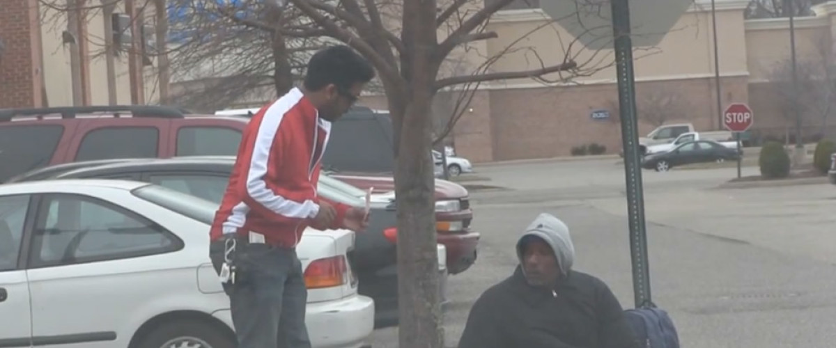 YouTube prankster gives homeless man a winning lottery ticket