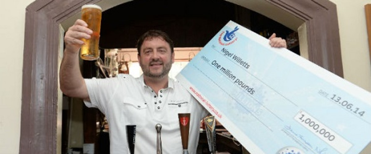 Wales' latest millionaire defied all superstition to win the lottery on the unluckiest day of the year
