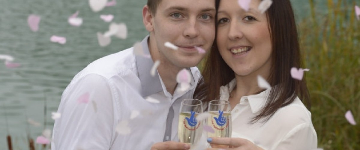 Young couple plan their dream wedding after scooping top prize on the EuroMillions lottery