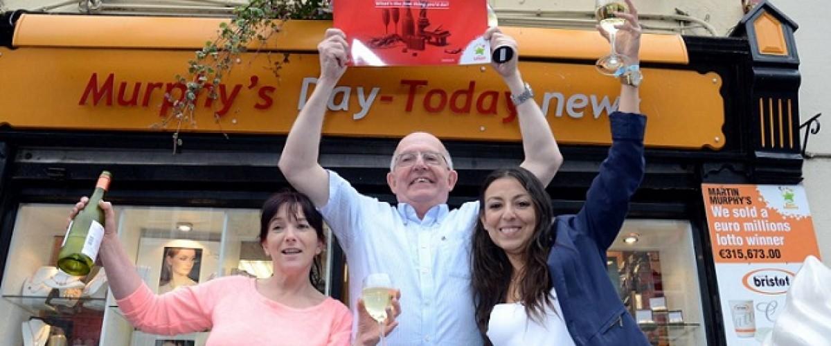 Irish Lotto winner keeps it in the family
