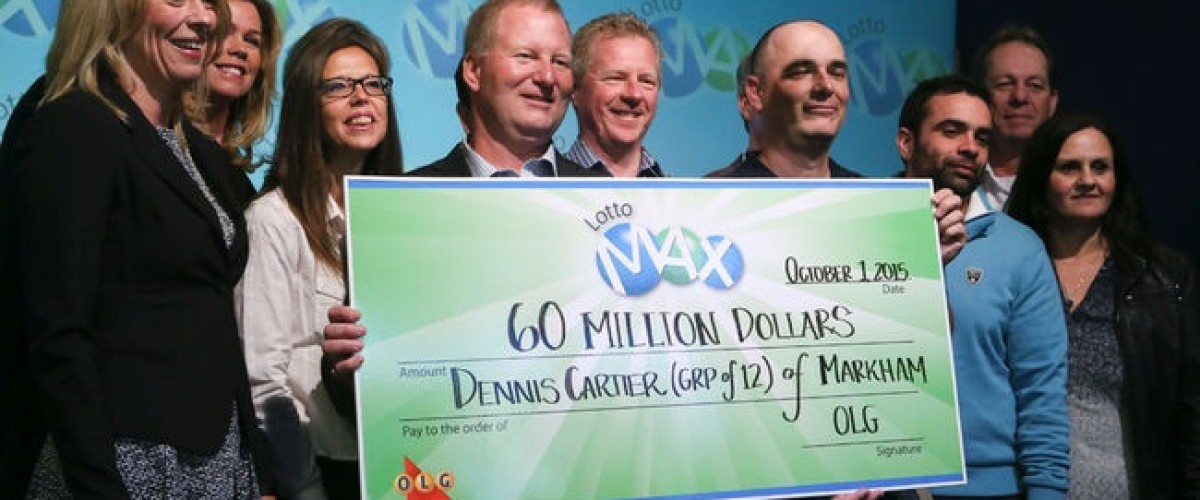 Workplace syndicate claim historic Canadian Lotto Max jackpot