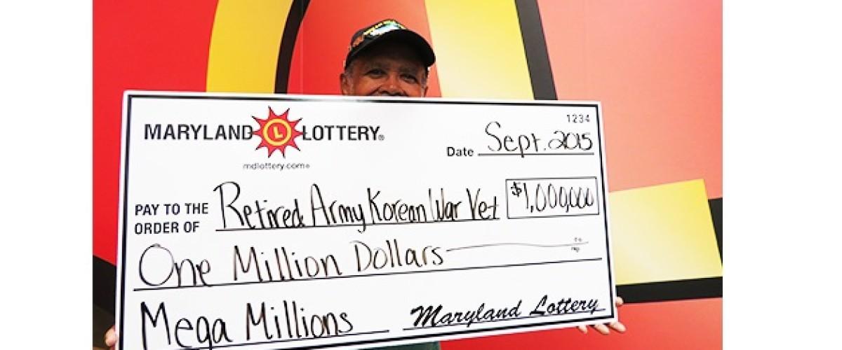 Korea War Veteran wins $1 Million Mega Millions Prize