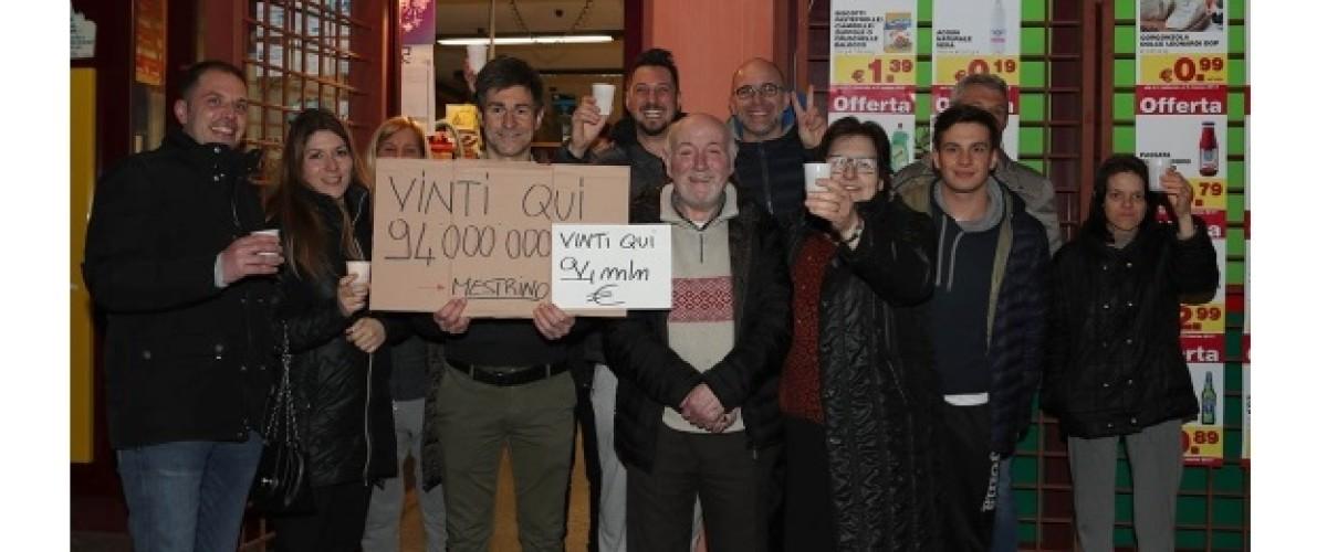 €93.72m SuperEnalotto winning ticket sold in Mestrino