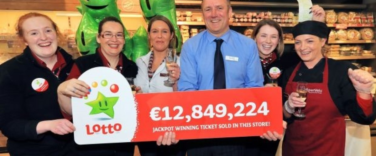 €12.9 million Irish Lotto jackpot was sold by lucky store manager
