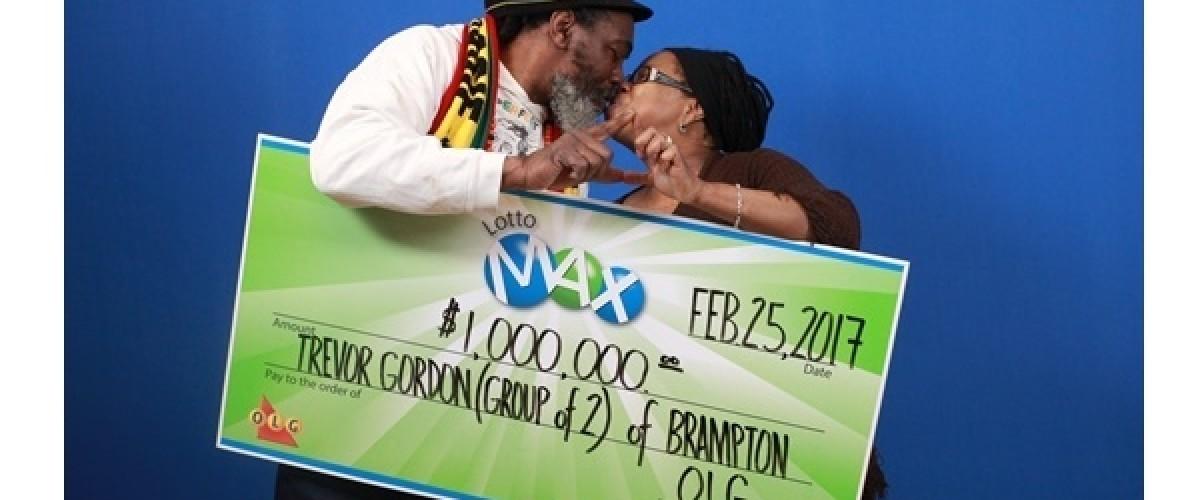 Brampton Ontario residents win $1 million on the Canadian Lotto Max