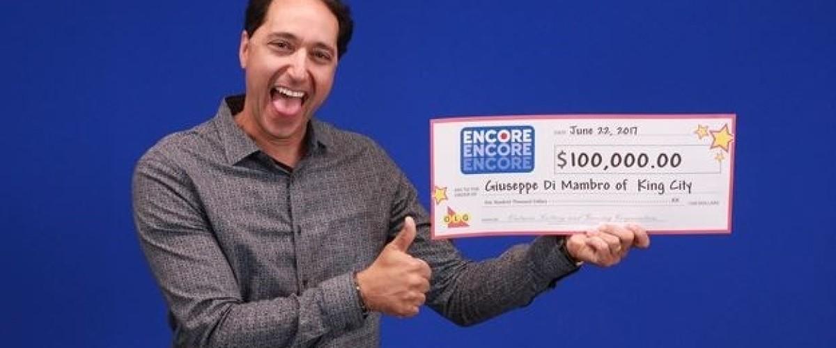 Southern Ontario man wins $100,000 on Lotto Max Encore