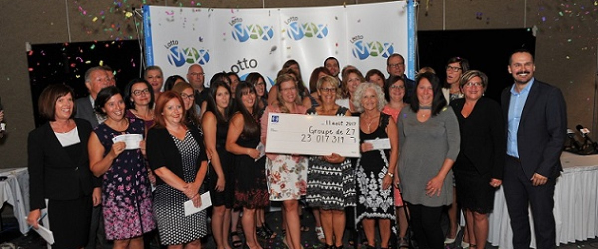 Christmas presents treat after $23m Lotto Max jackpot win