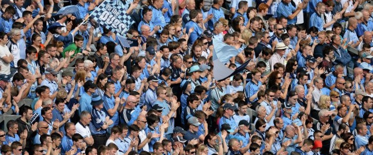 Gaelic football fans claim lottery prize in Dublin