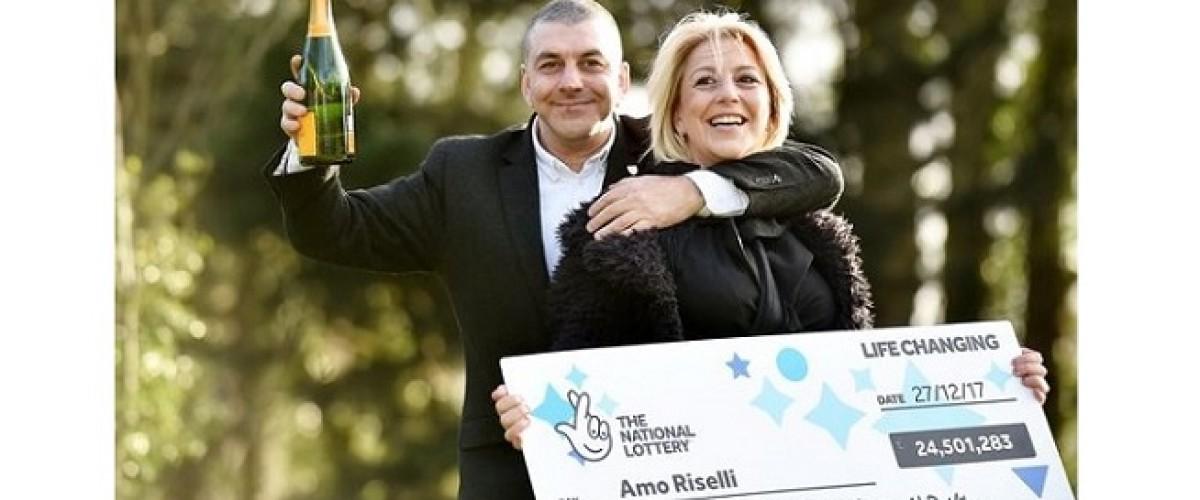 £24.43m UK Lotto winner thought he'd won £240,000