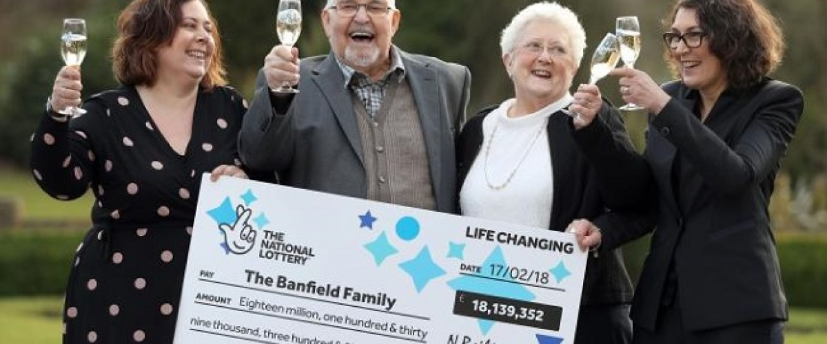 Financial security and a 1930s suit for £18m winning UK Lotto family