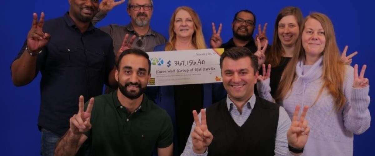 Ontario colleagues win over $350,000 on the Canadian Lotto Max