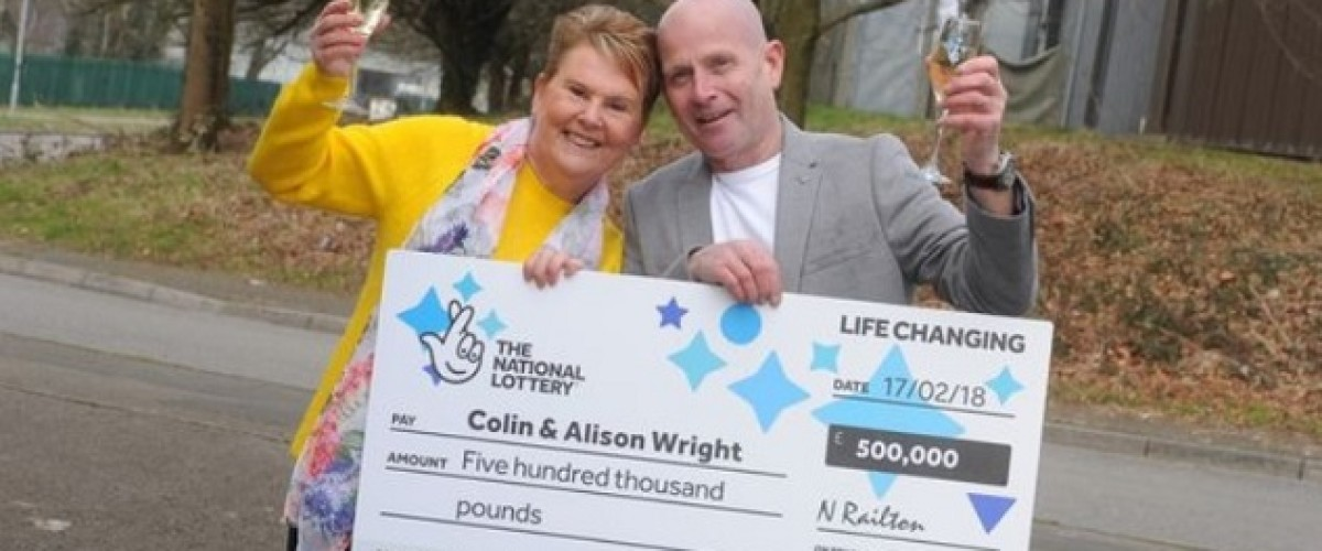 Emotional reunion due for £500,000 Thunderball winners