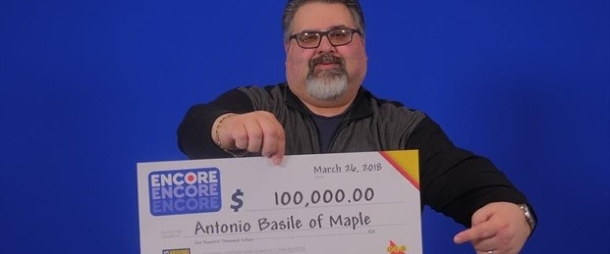 Ontario man celebrates 'unreal' $100,000 Lotto 649 win