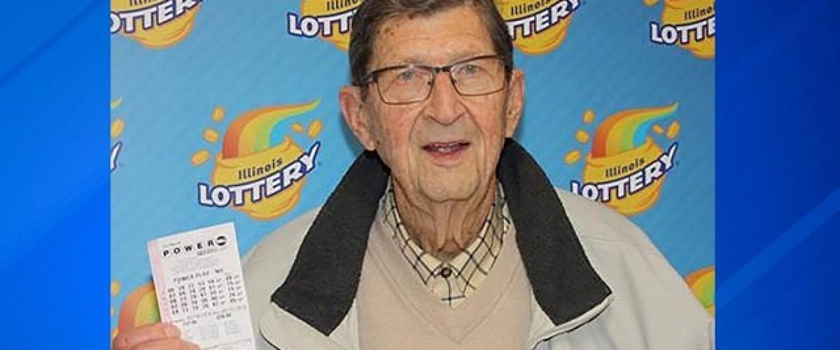 91-year-old Illinois man wins $1 million on Powerball after 44 years