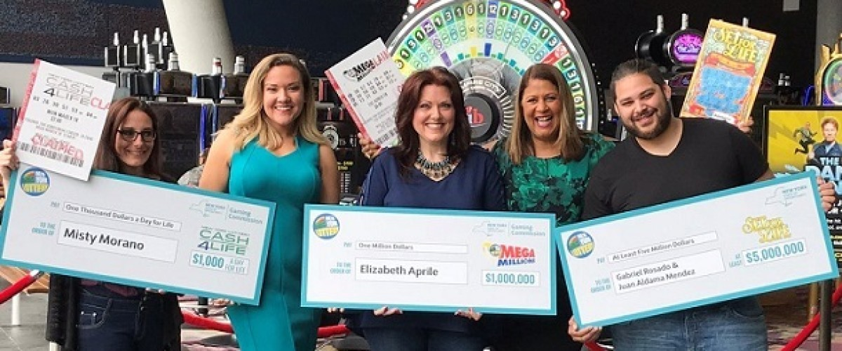 New York trio collect big lottery wins