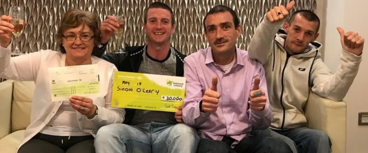 Plasterer from Cork celebrates €30,000 prize on National Lottery scratch card