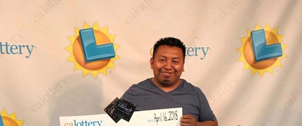 California man is on a four-ticket lottery scratch card winning streak