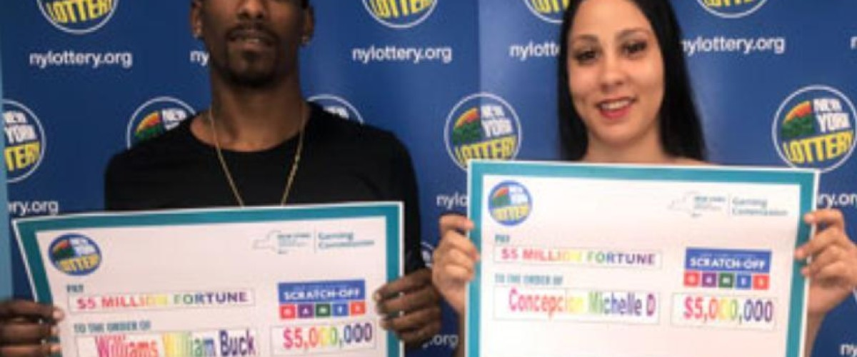 New York couple get change for $100 bill and end up with $5 million scratch card prize