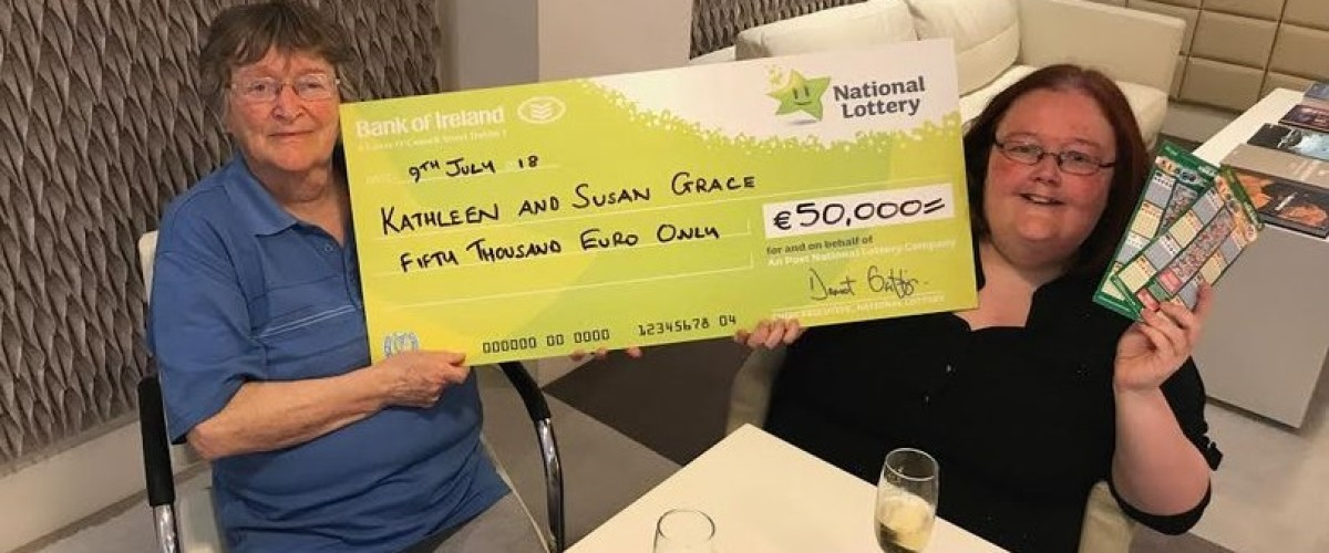 Irish Lotto player wins €50,000 on scratch card 11 years after her first win
