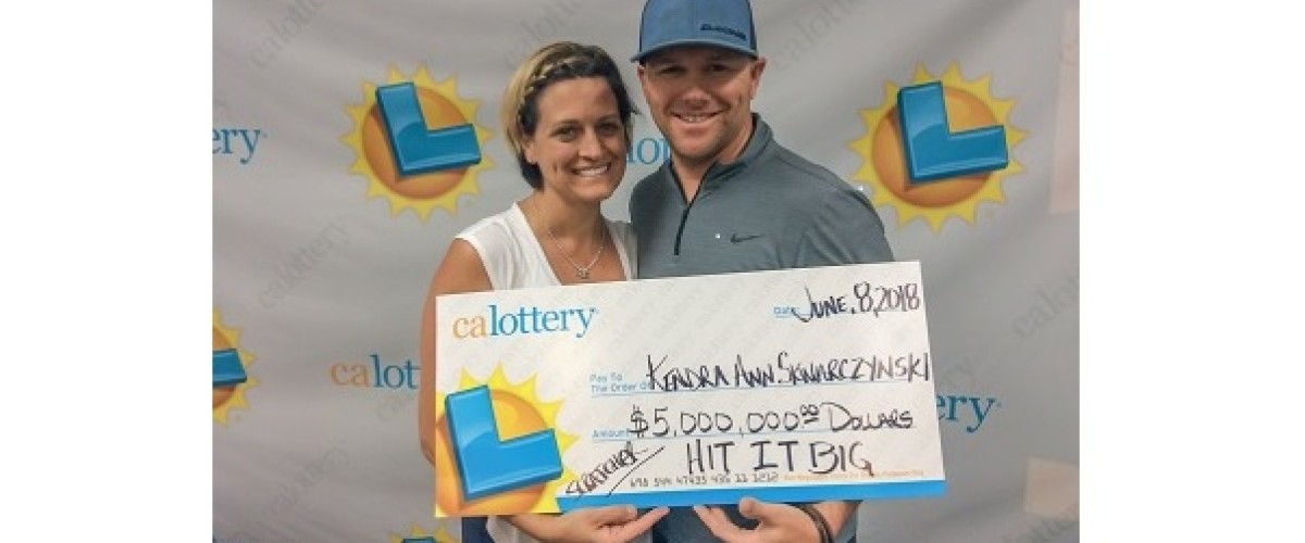 Californian couple claim $5 million scratch off prize thanks to wife's lucky touch
