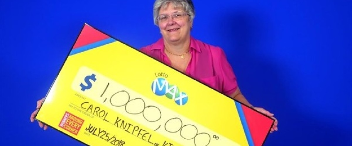 Carol Wins $1m Lotto Max Prize on her Retirement Day