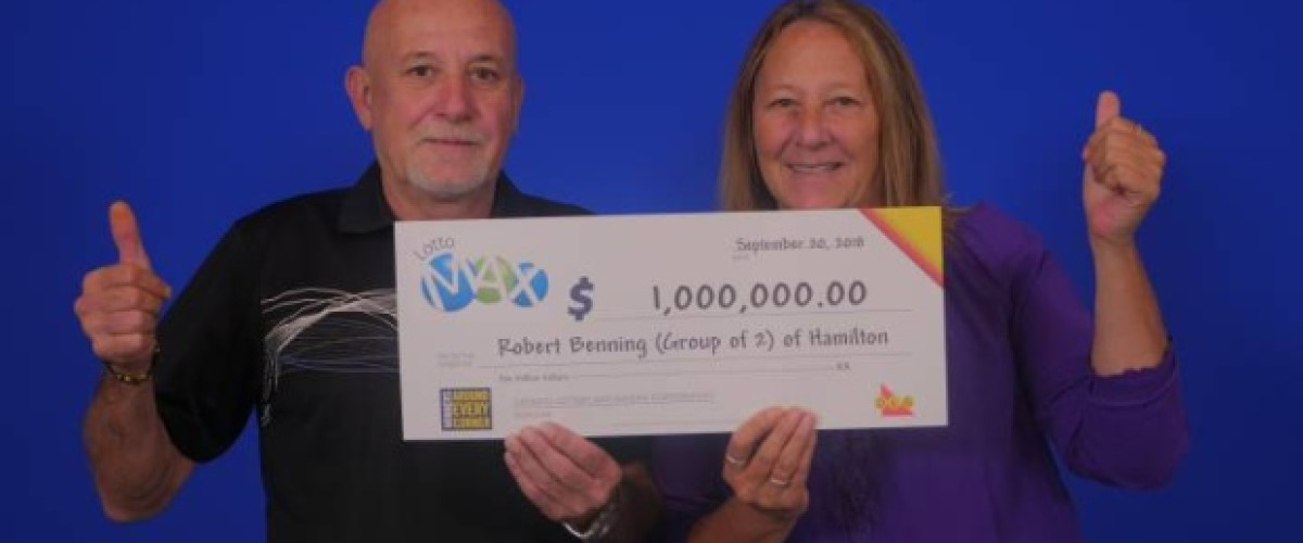 Ontario couple celebrate Lotto Max win with engagement