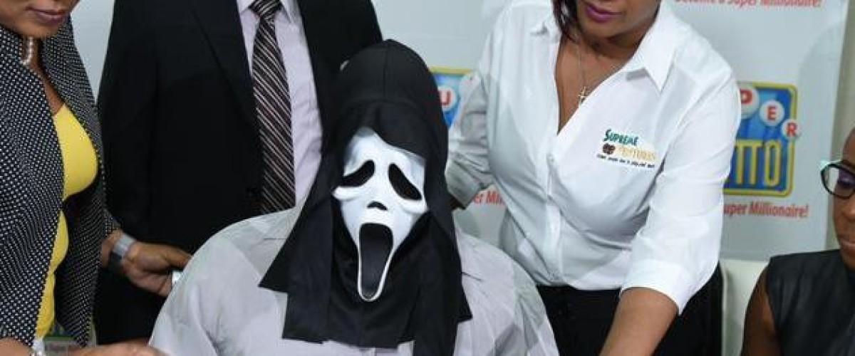 Super Lotto Winner of $158m wears Scream mask to hide identity