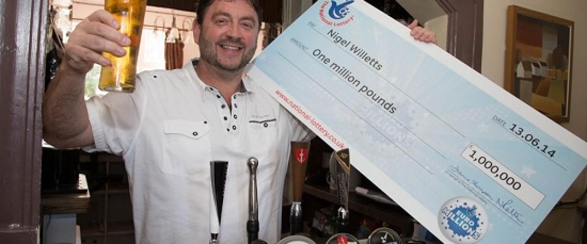 All-Night Celebration as Pub Landlord wins £1 million