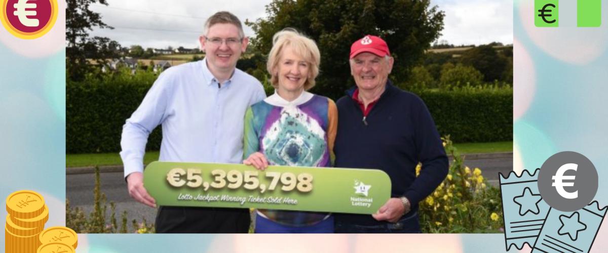 Patience Pays off with €5.4 million Irish Lotto Win