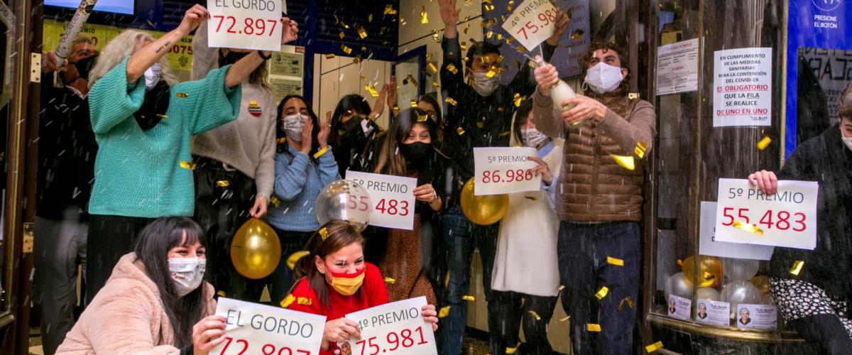 Celebrations for Spanish Christmas Lottery Winners