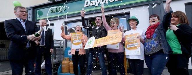 massive lottery wins irish store