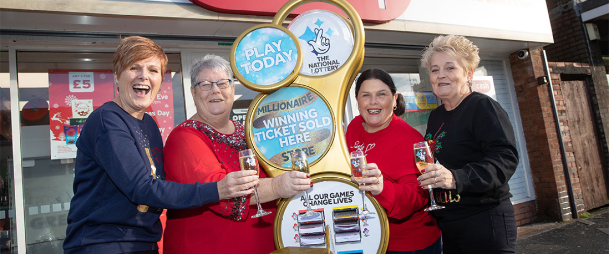 Local lottery winners return to store that made them millionaires