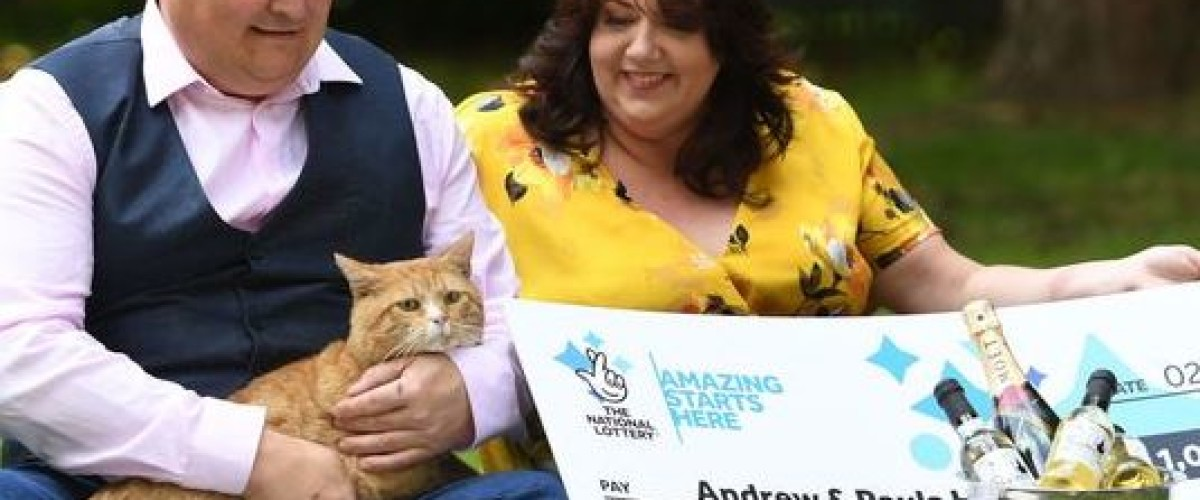 Devon couple thank their cat for lottery scratch card win