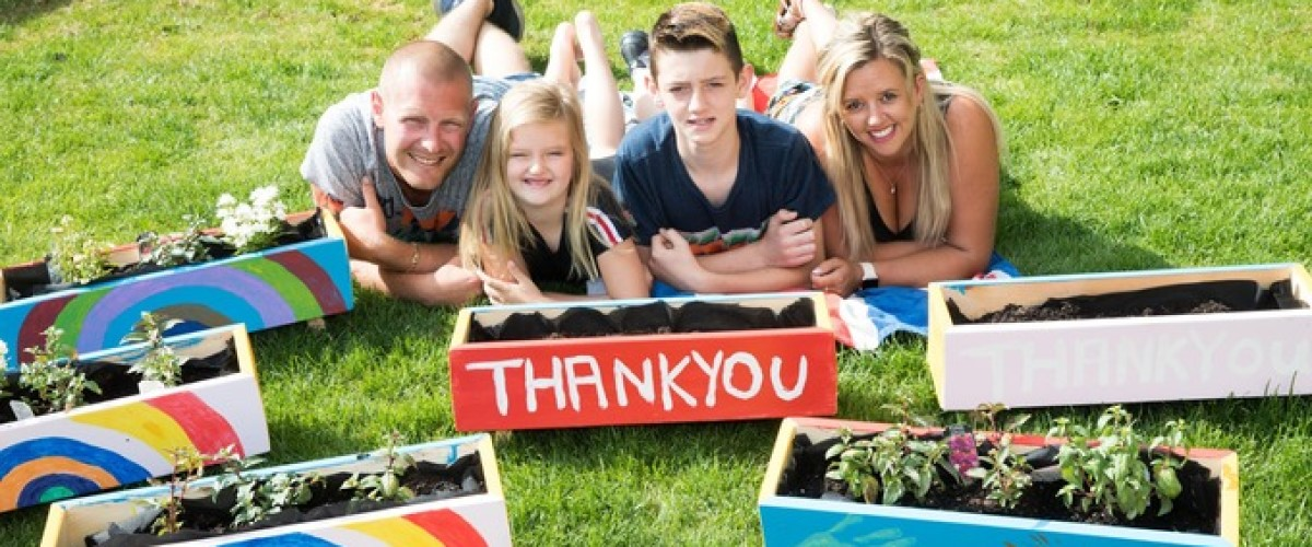 EuroMillions Winners Busy Making Planter Boxes for local schools