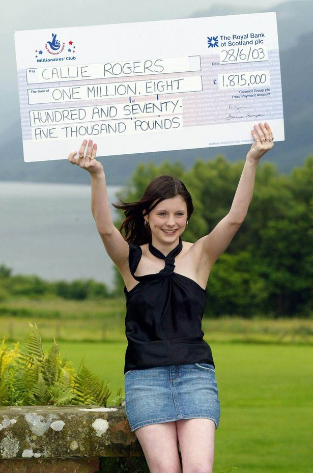 callie rogers celebrates lottery win