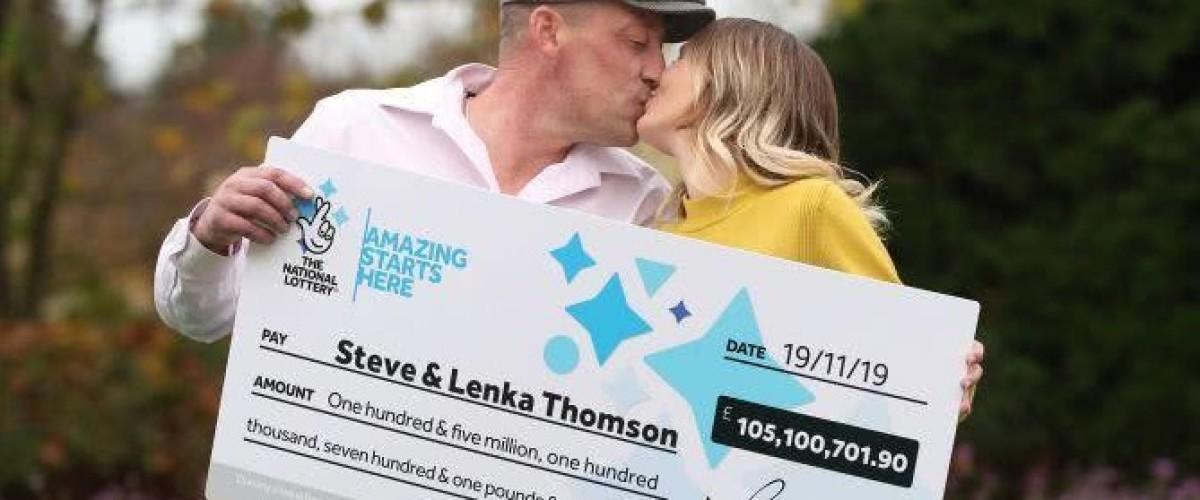 Steve y Lenka Thomson, de Reino Unido, son los ganadores del noveno bote más grande en la historia del Euromillones