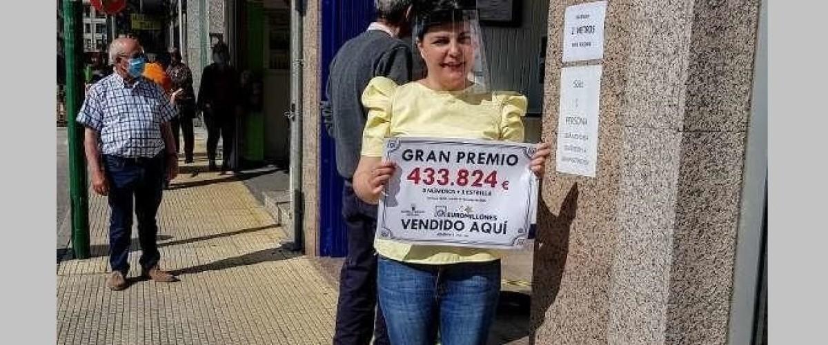 Un vecino de Tui (Pontevedra) gana 433.824 euros en el Euromillones