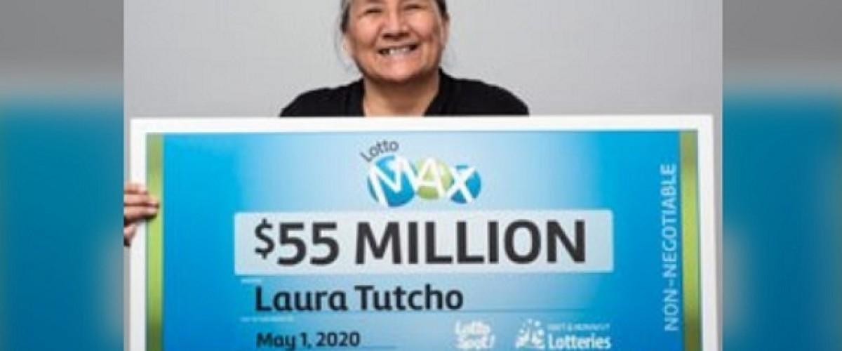 Una mujer de Yellowknife gana 55 millones en la Lotto Max