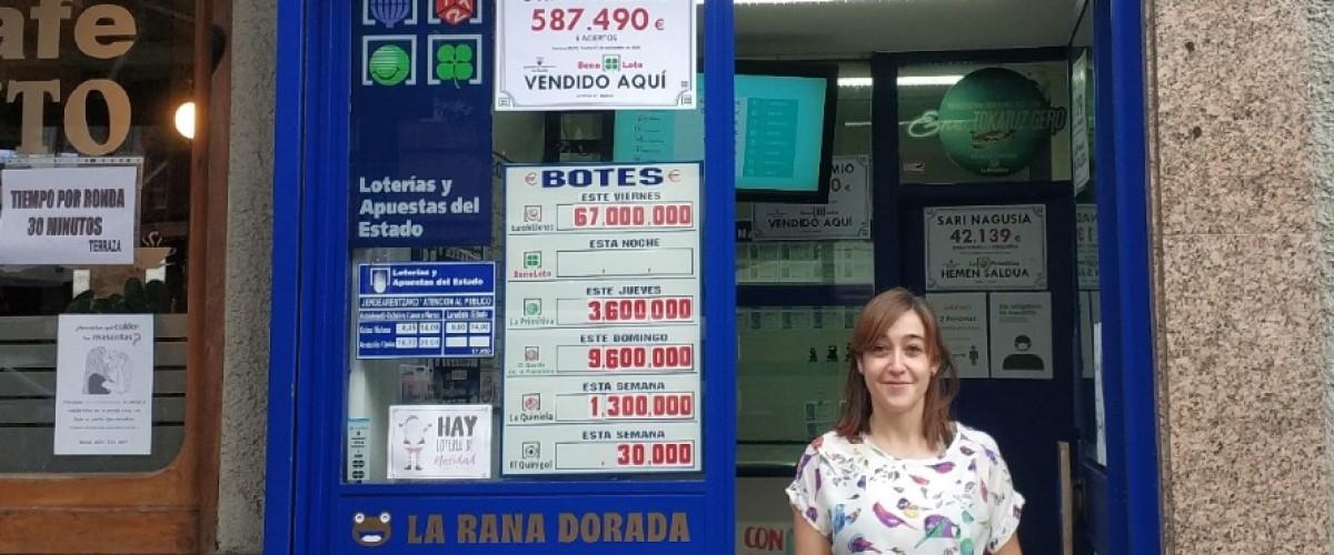 La Bonoloto entrega un bote de 587.490 euros en Bilbao