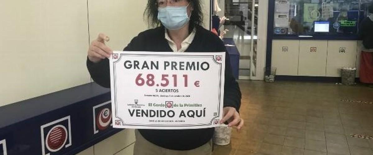El Gordo de la Primitiva entrega dos premios de 68.511 euros