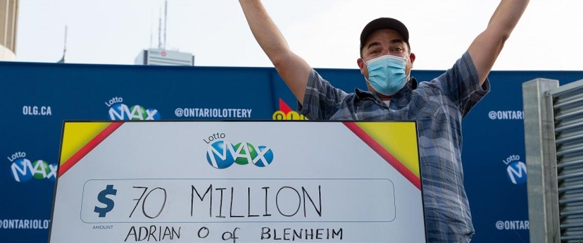 Un padre de Ontario reclama un bote de 70 millones en la Lotto Max