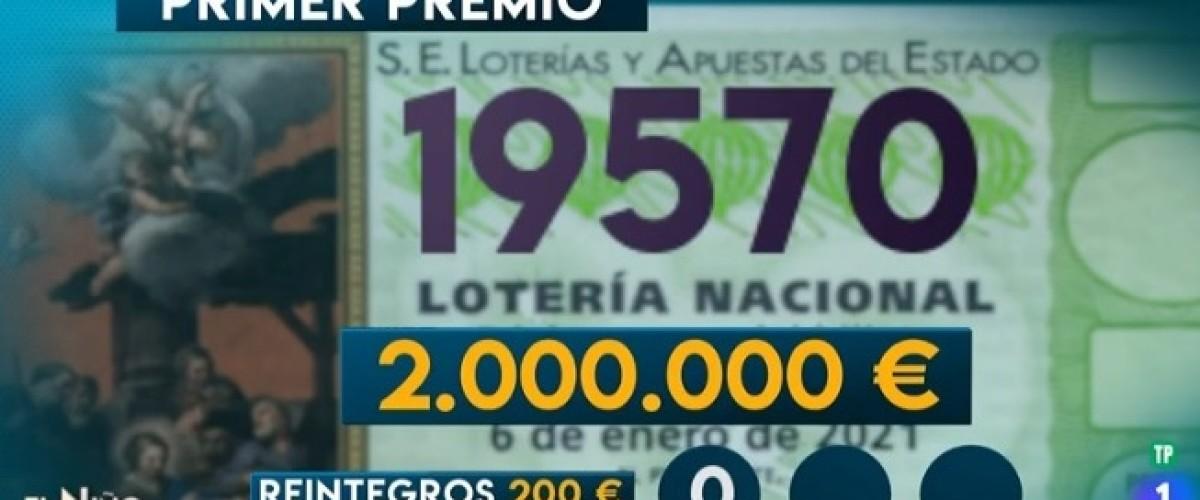 El número afortunado en la Lotería del Niño es el 19570