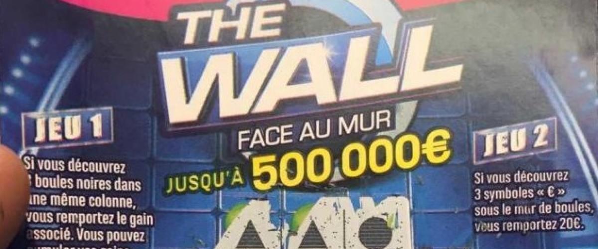 """Premier gagnant pour le nouveau jeu de grattage d'inspiration télévisuelle """"The Wall"""""""
