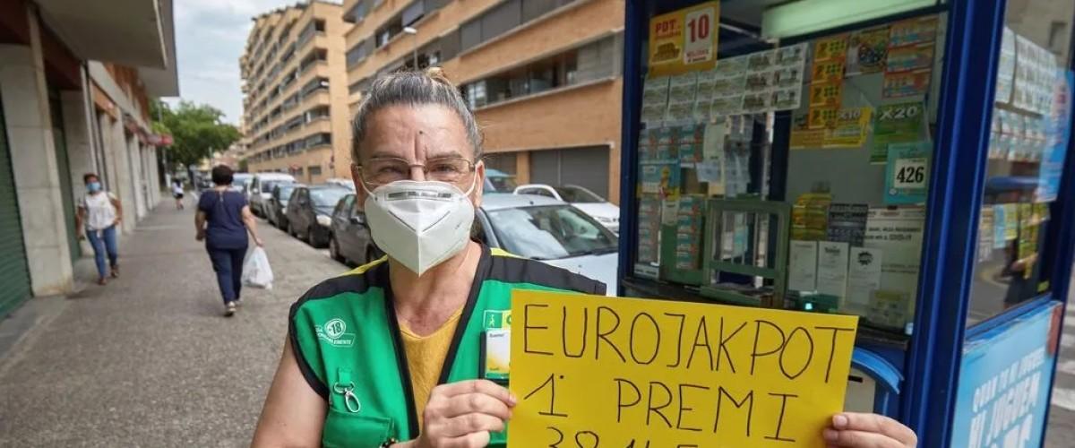 """Une vendeuse """"en remplacement"""" distribue l'EuroJackpot en Espagne"""