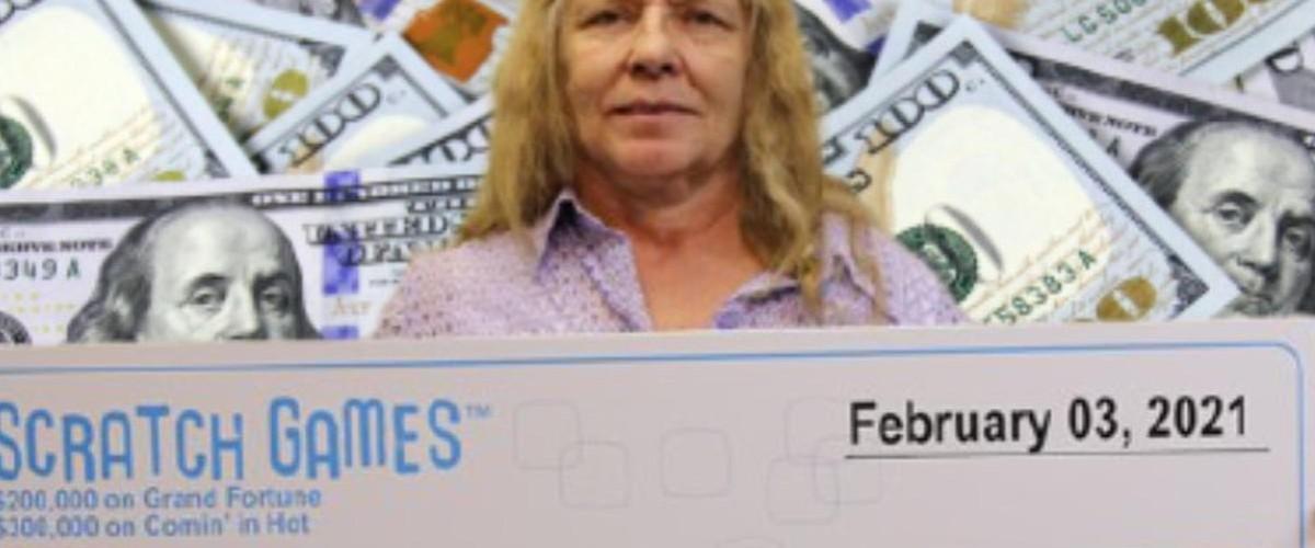 Une Américaine gagne deux jours de suite aux tickets à gratter