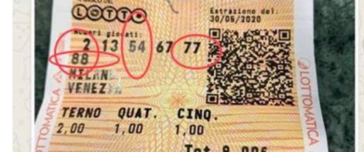 Operatore abruzzese vince 9 mila al Lotto, ma sfiora il milione