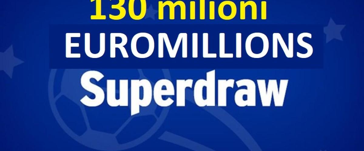 Riecco il Superdraw di Euromillions, 130m in palio il 25 settembre