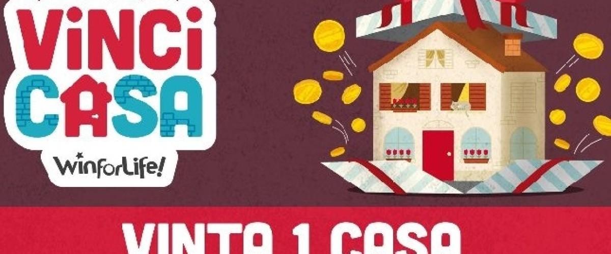Jackpot al Vinci Casa, laziale vince la casa dei sogni
